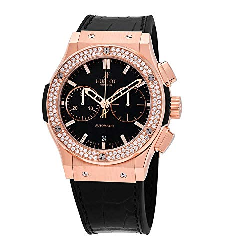 Hublot Classic Fusion Chronograph Rose Gold Diamonds Watch 521.OX.1180.LR.1104