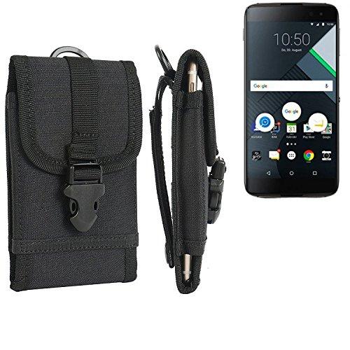 K-S-Trade Handyhülle Für BlackBerry DTEK60 Gürteltasche Holster Handytasche Gürtel Tasche Schutzhülle Robuste Handy Schutz Hülle Tasche Outdoor Schwarz