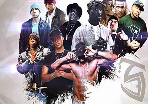 Poster Arte Legendario de la Pared de Gangsta Eminem 2PAC del Rapper