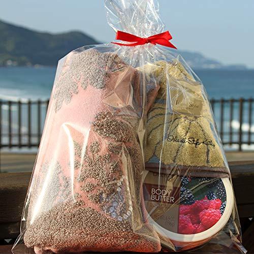 タオル ギフト ボディークリーム 3点 セット キャシーマム デロン ボディーバター ハワイアン プレゼント クリスマス プレゼント アイランドスタイル DELON KathyMom islandstyle (B ソフト (淡色系), ピンクグレープフルー