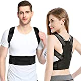 Posture Corrector for Women and Men, Sixport Kyphosis Brace, Adjustable and Comfortable Scoliosis Back Humpback Correction Belt for Students & Children & Adult (Waistline 29-32')