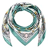 corciova 35' Women Polyester Silk Feeling Bell Orchid Dark Cyan Hair Scarf for Sleeping