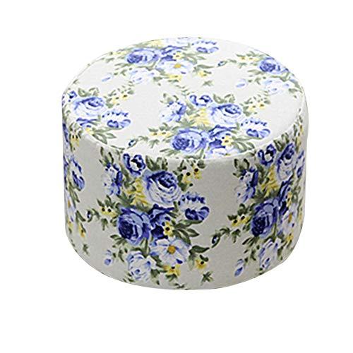 LIXIONG Tabouret Pouf Cadre En Bois Massif Rond Tabouret De Table Lin Anti-statique Portant 100 Kg, 10 Couleurs 29x29x20cm (Couleur : Multi-colored-a)