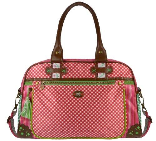 Lief! 440-4825-2 Wickeltasche, rosa gestreift und rosa kariert