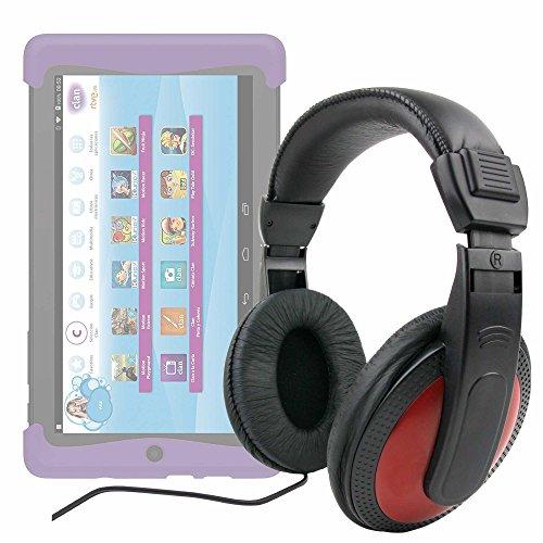 DURAGADGET Auriculares De Diadema para Cefatronic - Tablet Clan Motion Pro - Negro Y Rojo - con Cable De 2 Metros Y Conexión Jack De 3.5mm