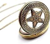 Reloj de bolsillo elegante clásico.Reloj de bolsillo, reloj de bolsillo Pentagonal Pentagonal Magic Pentagonal Magic Industry Vintage para cumpleaños, festivales, regalos conmemorativos, relojes para
