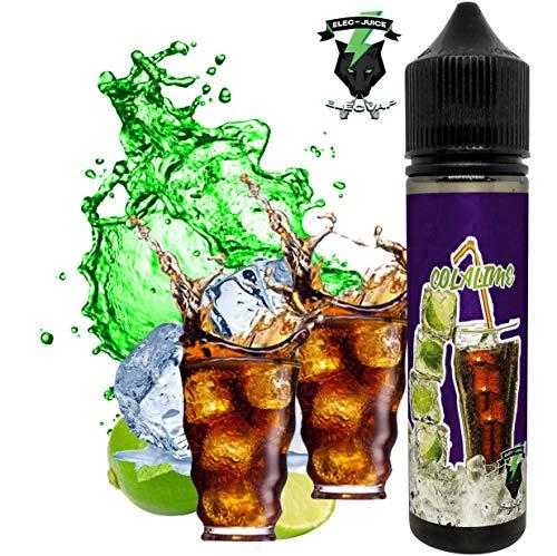 E-Liquid COLA LIME de ElecVap - Sin Nicotina - 60ml formato TPD - 0MG Nicotina - E-Liquido para Cigarrillos Electronicos - E Liquidos para Vaper