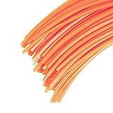 60 Brins 3 mm X 35 cm de fil professionnel carré pour débroussailleuse