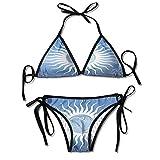 Garlincao Costumi da Bagno Bikini Morbidi, in Fiamme fiammeggiante Bikini Pneumatici 2 Pezzi
