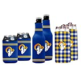 NFL Logo Brands Los Angeles Rams Coozie Variety Pack, Team Color