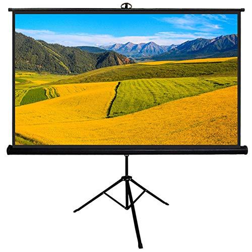 Pantalla de proyector portátil Pantalla proyector con soporte - Películas móvil de la pantalla - 1: 1 de la pantalla HD del trípode for el teatro casero cine al aire libre de interior para escuela cin