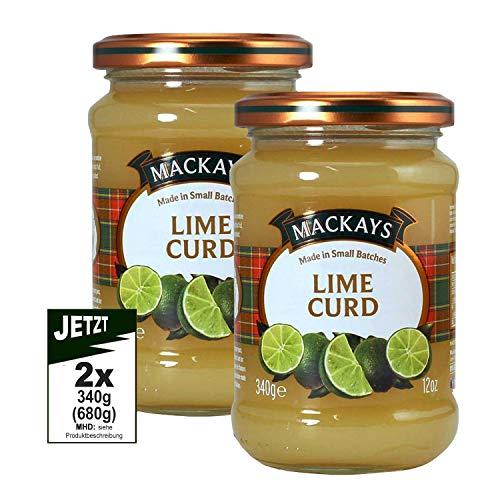 Mackays Lime Curd2x 340g (680g) - feinste Schottische Limetten-Creme als Aufsrich und zum Backen