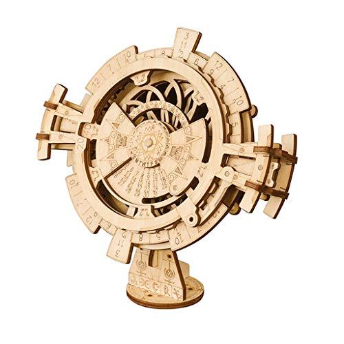 Puzzles Spielzeug Dreidimensionales Assembled Mechanische Modell aus Holz Spielzeug Kreative Ewiger Kalender/Passwort Box/Pendeluhr Brainteaser (Color : Perpetual Calendar)