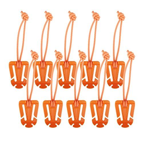 10pcs Molle Exterieure Cordon Elastique Sangle Pendre Boucle Des Clips Rouleau D'orange