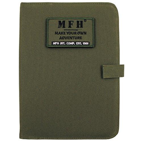 MFH Semainier systeme à Anneaux Format A5 avec Fermeture Velcro (Olive)