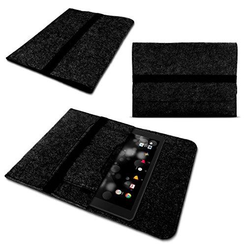 NAmobile Tablet Tasche Grau für TrekStor Primetab P10 Hülle Filz Cover Schutzhülle Hülle