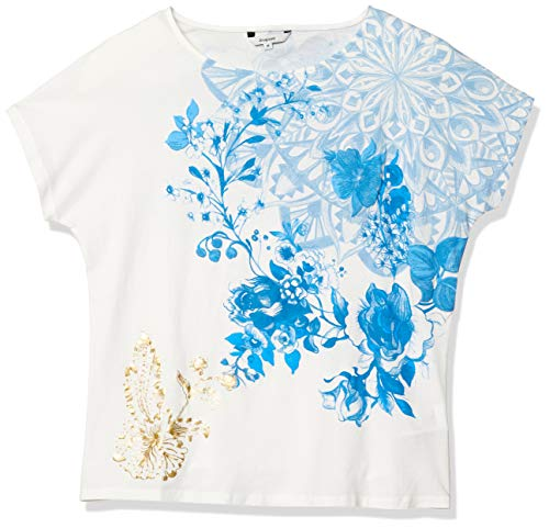 Desigual T-Shirt Donna TS Under 20swtkcs s Bianco