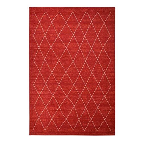 WEBTAPPETI.IT Tappeto Stile Etnico Salotto Marocco Rosso cm.200X290