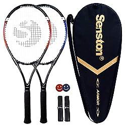 top 10 tennis racquets Senston Tennis Racket – 27 inch 2 player tennis racket Professional tennis racket, excellent handling…