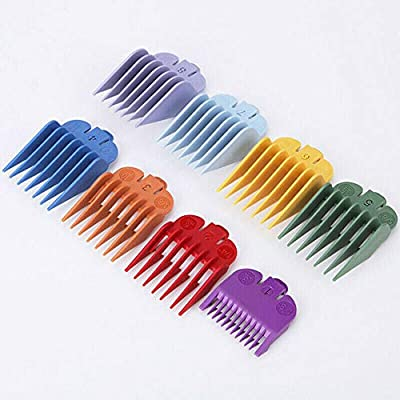 8Pcs Universal Hair Clipper Limit Combs Guide Attachment Size Replacement from manufacturer