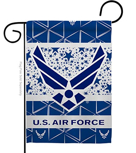 Ornament Collection Air Force Garden Flag Armed Forces USAF United State American Military Veteran Retire Official Small Decorative Gift Yard House Banner Double-Sided Made in USA 13 X 18.5