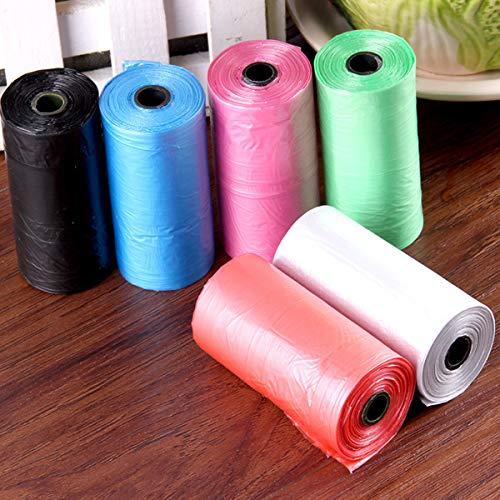 MJJEsports 50 Rolls Draagbare Hond Huisdier Afval Tassen Totaal 1000 Tassen Poop Poo Refill Core Pick Clean Bag