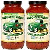 Hoboken Farms Basil Marinara Gourmet Sauce - No Sugar Added, Non GMO Project Verified, Kosher, Vegan, Plant Based, Keto & Paleo Friendly (2-Pack)