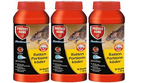 SBM Protect Home Ratten Portionsköder 3 X 500g Rodicum Sparpaket