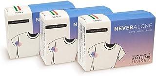 NeverAlone 30 Almohadillas de sudoración para axilas, Absorbentes de Transpiración, Hiperhidrosis, unisex, protectores de vestido, cómodas, adaptables, producto Italiano, protectores de vestido