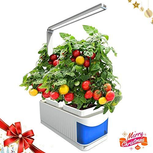 YOSTAR Smart Indoor Garden kweeksysteem, hydrocultuur, LED-groeilicht in de moestuin, ingebouwde leesmodus, herinnering aan watertekort, 360 ° verstelbare arm (zaden niet inbegrepen)