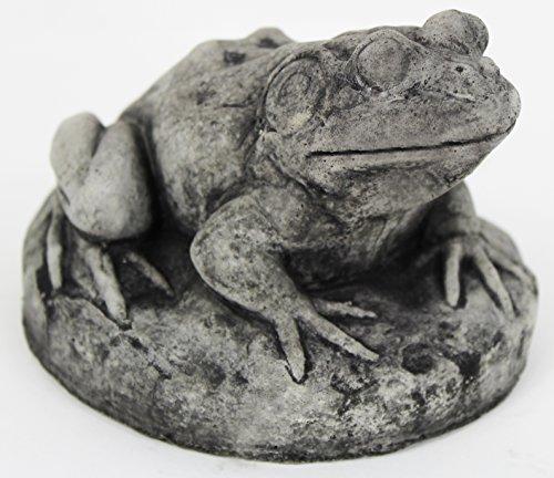 Fleur de Lis Garden Ornaments LLC Frog on Rock Concrete Statue