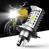 CCAUTOVIE Super Bright H4 Bombilla LED para Faros Moto Moto Bombilla LED 9003 HB2 1600LM 6000K Blanco