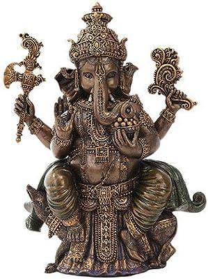 8 Inch Sitting Ganesha Indian Hindu Mythological Statue Figurine