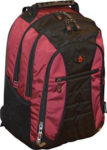 "SwissGear Skywalk 16"" Padded Laptop Backpack/School Travel Bag, Crimson"