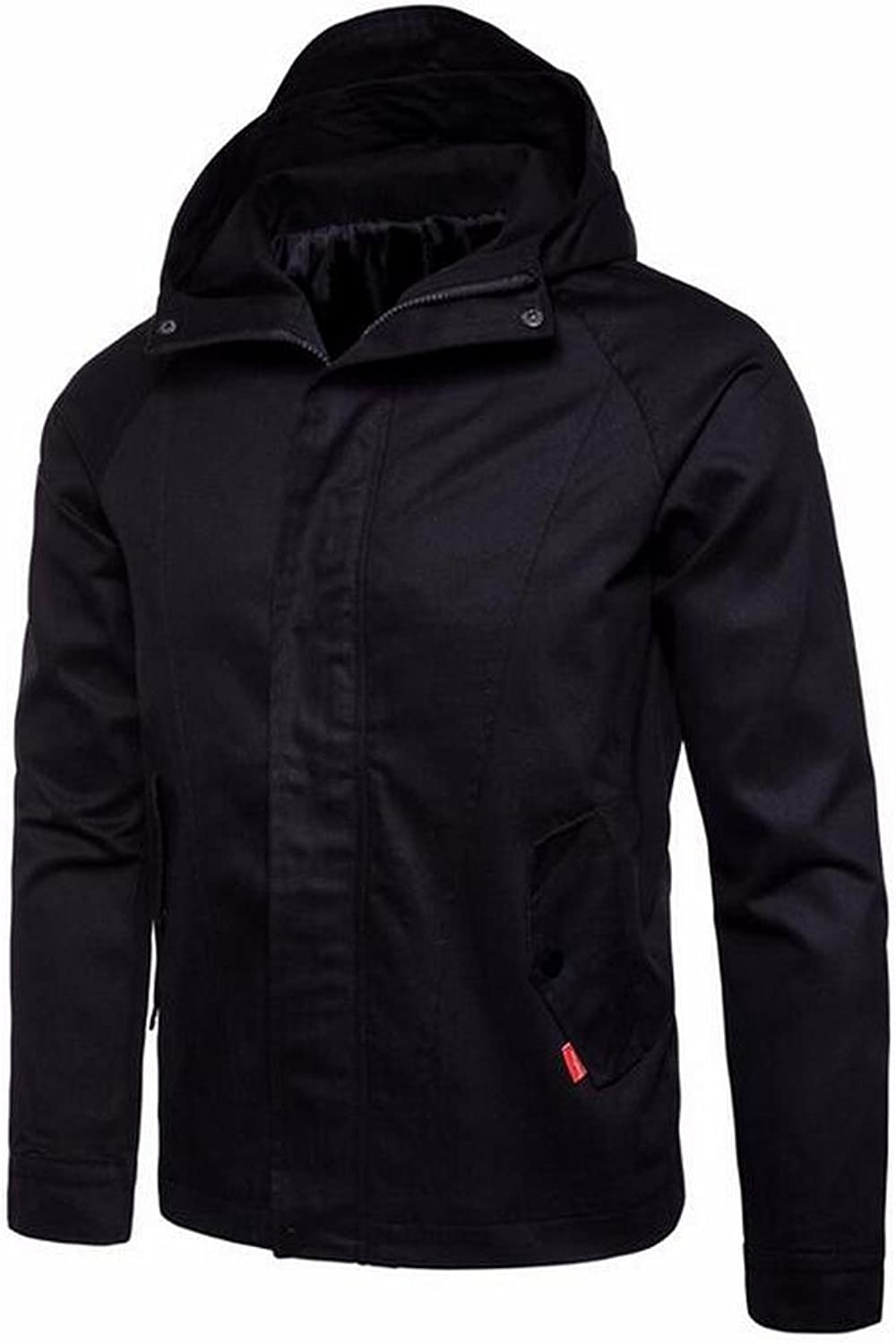 0b516544a0 LD Mens Casual Zipper Hooded Windbreaker Jackets Trench Trench Trench Coat  Outwear c4bbb5