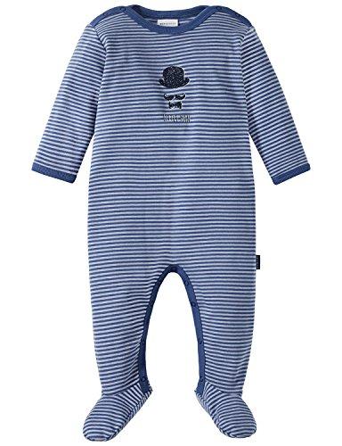 Schiesser Baby-Jungen Zirkus Strong Boy Anzug mit Fuß Zweiteiliger Schlafanzug, Blau (Blau 800), 56 (Herstellergröße: 056)