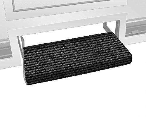 Prest-O-Fit 2-0420 Ruggids RV Step Rug Black Granite 23 In. Wide