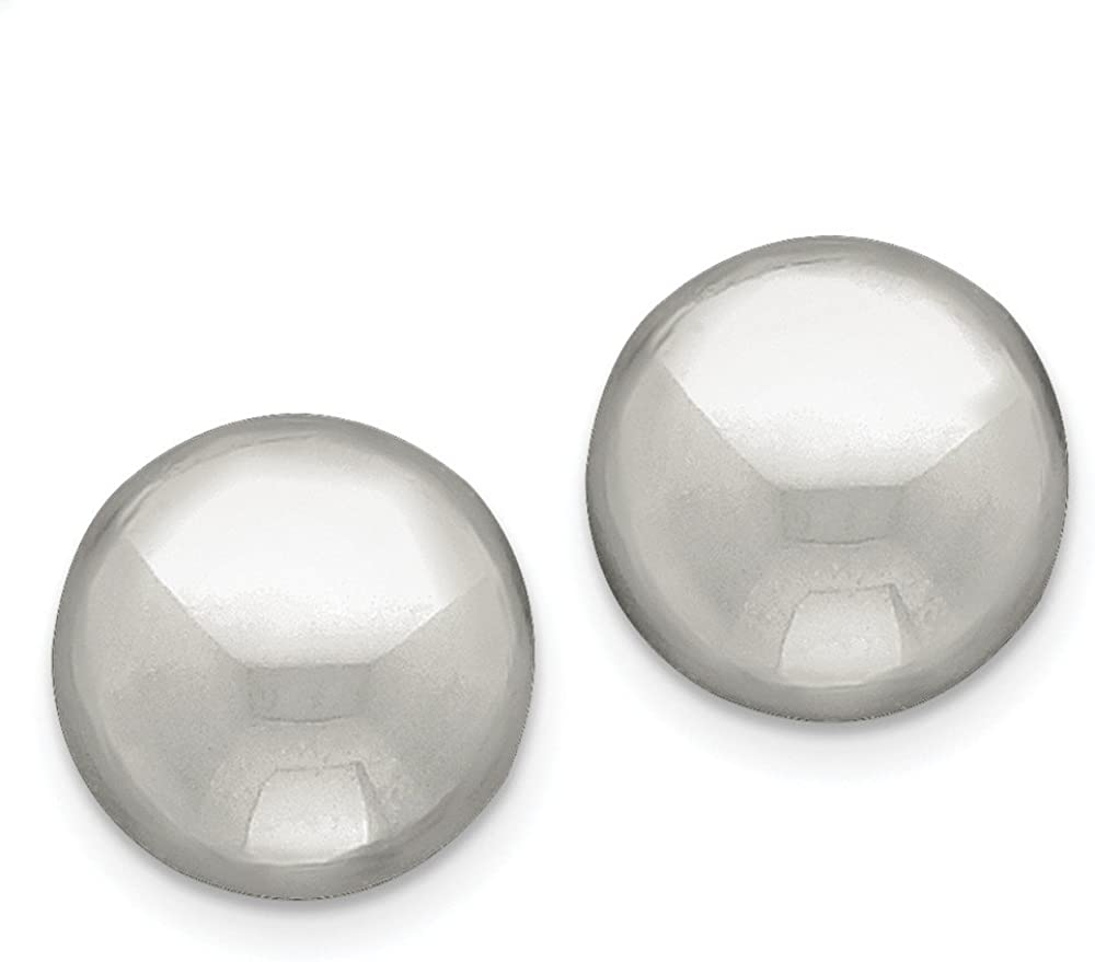 Sterling Silver Non-Pierced Earrings Ranking TOP9 Button 18mm Product