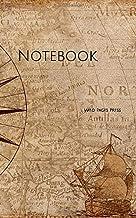 Notebook: compass map nautical antique navigation vintage captain ship