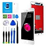 Keytas for iPhone 8 Plus Screen Replacement Kit White 5.5' LCD Display iPhone 8 Plus 5.5 Inch 3D Touch Screen Digitizer Frame Assembly with Free Repair Tools Kit+ Screen Protector (White)