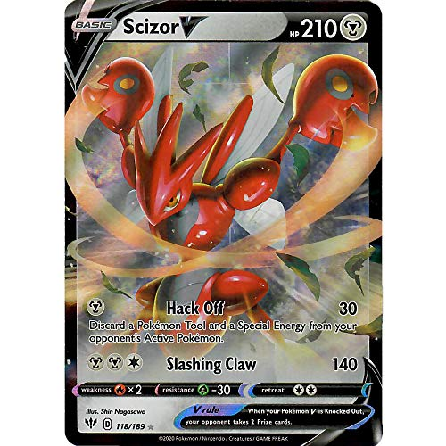 Scizor V - 118/189 - Ultra Rare Sword & Shield Darkness Ablaze Singles