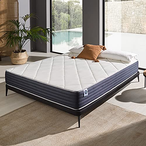 Naturalex | Ideal Visco | Colchón 160x200 Cm Viscoelástico Gama Premium | NúcleoAeraPur Fresco y Saludable | Adaptable 7 Zonas de Descanso Antipresión Muscular | Óptima Transpiración | Reversible
