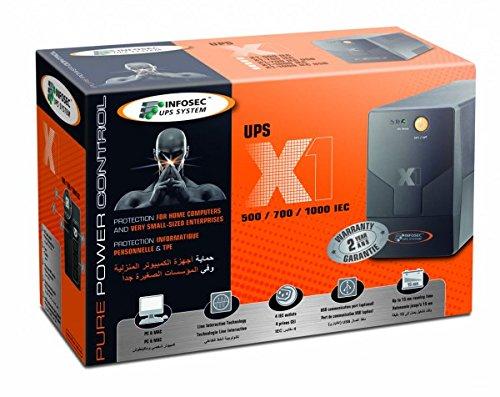 X1 EX 700 FR/SCHUKO, ononderbroken stroomvoorziening, Infosec - 65954