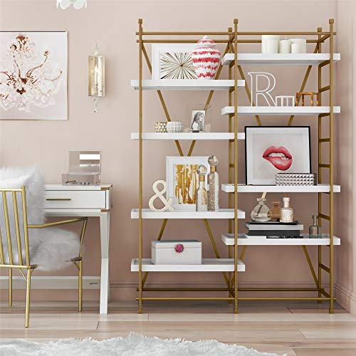 CosmoLiving by Cosmopolitan Yves Bookcase Gold