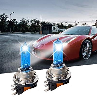 Carrep 2Pcs H15 15/55W Xenon 7500K Super White Halogen Bulbs Daylight Lamp Headlight Light Bulbs 12V