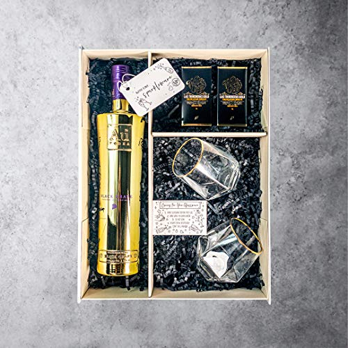 Au Vodka 70cl, Gift Set with Matching Clear/Gold Tumblers & Chocolates (Black Grape) Hampers & Gourmet Gifts Grocery Store