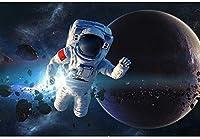 ジグソーパズル 1000個のアメリカ宇宙飛行士セット、大人のスペースパズルのための月への地球外愛のファクトポスターはクールなパズルの知識的なゲームです LYXFCY (Color : A)