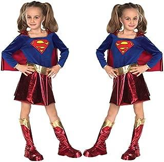 Costume Blu Rosso Mantello Supereroe Adulto Bambini Superman Wonderwoman Costumes