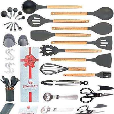 Amazon - Save 30%: Premium Silicone Cooking Kitchen Utensil Set,Grandfort 28 pcs Co…
