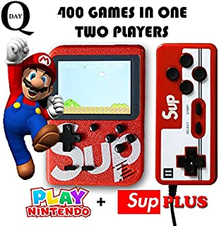 Q-Day SUP PLUS Handheld Video Game Console. 400 Classic Games in 1. SUPREME + GameBoy Games. For Two Players